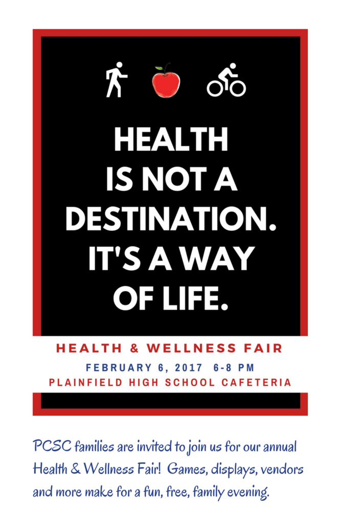 Health and Wellness Fair! All are Welcome!