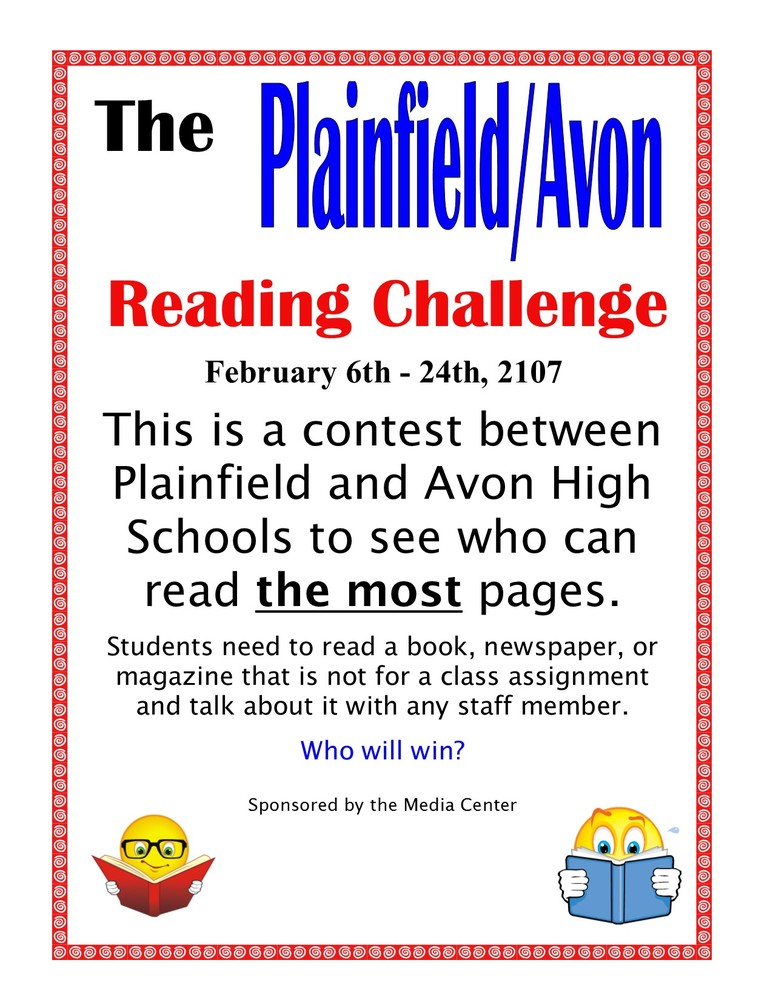 Plainfield/Avon Reading Challenge