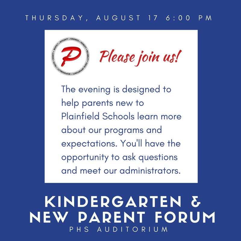 Kindergarten and New Parent Forum