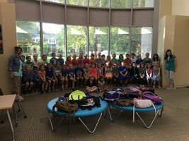 Mrs. Ash and Mrs. Williams's classes visit the Plainfield Public Library