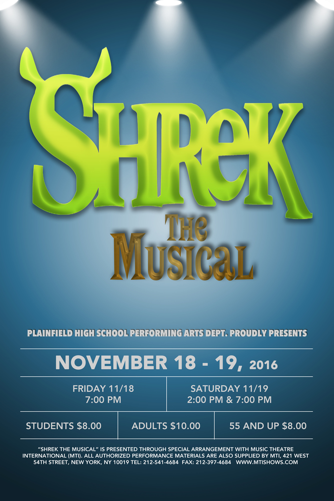 Shrek the Musical Coming to PHS November 18 and 19!