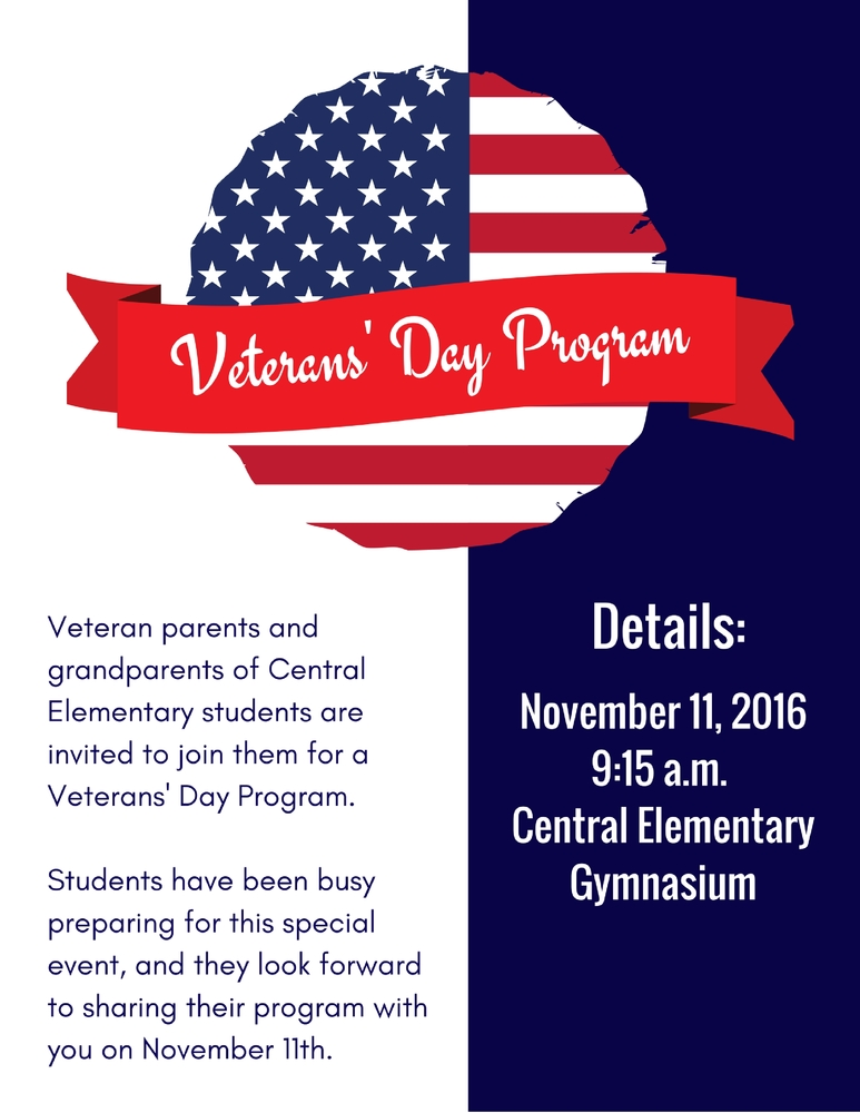 Central to Honor our Veterans!