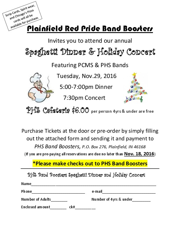 PHS & PCMS Band Holiday Concert