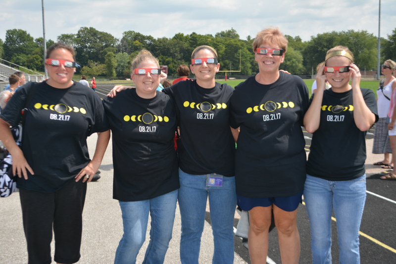PCMS cafeteria staff ordered special eclipse shirts to honor the historic day!