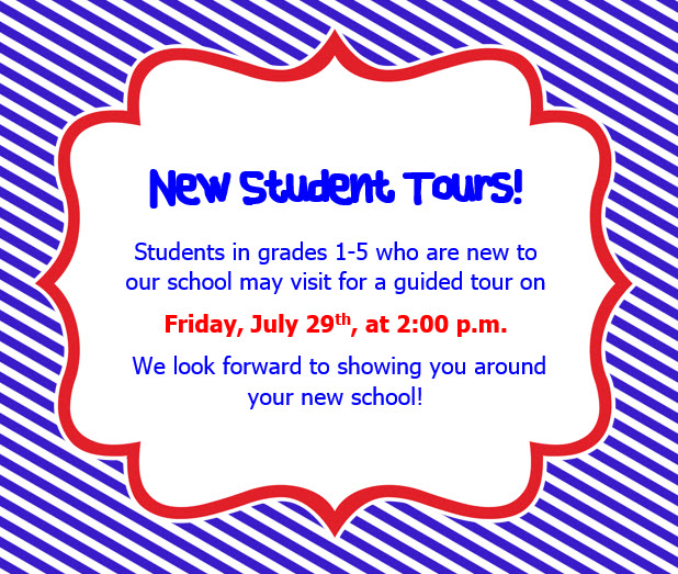 Are You New to Clarks Creek?  New Student Tours are Coming Up!